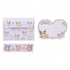 Japan Sanrio Letter Envelope Set - Kuromi