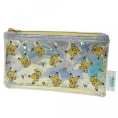 Japan Pokemon Pencil Bag Pouch - Clear Pikachu