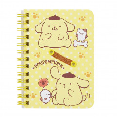 Sanrio B7 Twin Ring Notebook - Pompompurin
