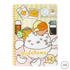 Sanrio A6 Twin Ring Notebook - Gudetama