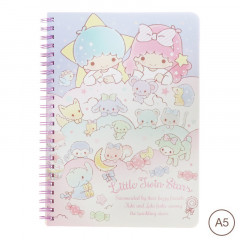 Sanrio A5 Twin Ring Notebook - Little Twin Stars