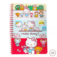 Sanrio A5 Twin Ring Notebook - Hello Kitty