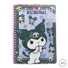 Sanrio A5 Twin Ring Notebook - Kuromi