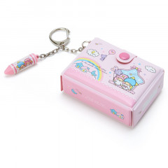 Japan Sanrio Mini Box Keychain - Little Twin Stars