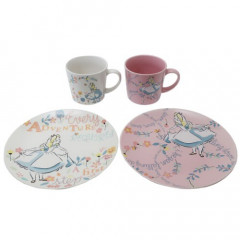 Japan Disney Pottery Mug & Plate Gift Set - Alice in Wonderland