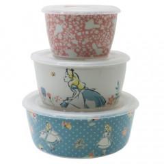 Japan Disney Pottery Bowl Gift Set - Alice in Wonderland