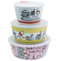 Japan Disney Pottery Bowl Gift Set - Winnie The Pooh