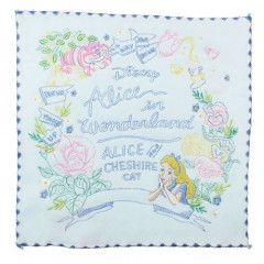 Japan Disney Embroidery Handkerchief Wash Towel - Alice in Wonderland