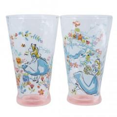 Japan Disney Princess Glasses Cup Gift Set - Alice in Wonderland