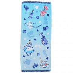 Japan Disney Fluffy Towel - Alice in Wonderland Blue