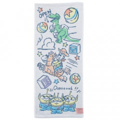Japan Disney Fluffy Towel - Toy Story Little Green Men