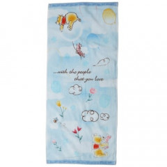Japan Disney Fluffy Towel - Winnie The Pooh in the Sky