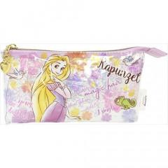Japan Disney Clear Makeup Pouch Bag Pencil Case (M) - Rapunzel