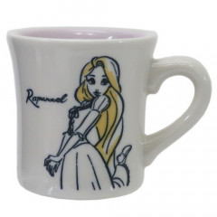 Japan Disney Princess Ceramic Mug - Sketch Rapunzel