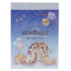 Japan Disney B8 Mini Notepad - Chip & Dale Night