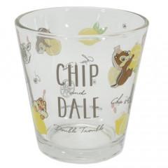 Japan Disney Glass Cup - Chip & Dale Lemon