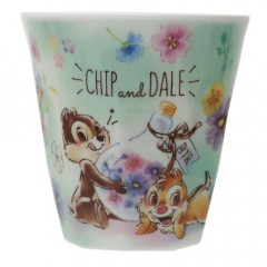 Japan Disney Acrylic Cup - Chip & Dale Green