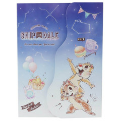 Japan Disney A6 Notepad with Die-cut Cover - Chip & Dale