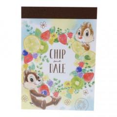 Japan Disney B8 Mini Notepad - Chip & Dale Fruit