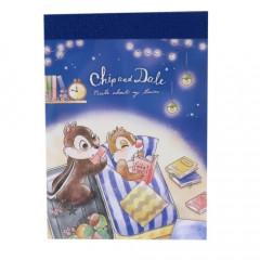 Japan Disney B8 Mini Notepad - Chip & Dale Star Night