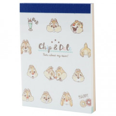 Japan Disney B8 Mini Notepad - Chip & Dale Star Smile