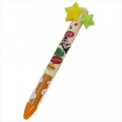 Japan Disney Two Color Mimi Pen - Chip & Dale with Star