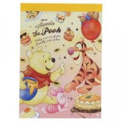 Japan Disney B8 Mini Notepad - Winnie the Pooh Picnic