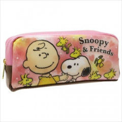 Japan Peanuts Pouch - Snoopy & Friends Pink
