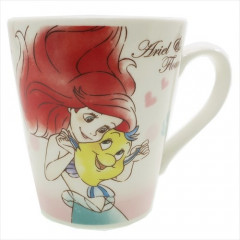 Japan Disney Ceramic Mug - Ariel & Flounder Lovely Friends