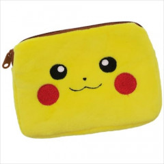 Japan Pokemon Mini Pouch with Tissue Case - Pikachu Face