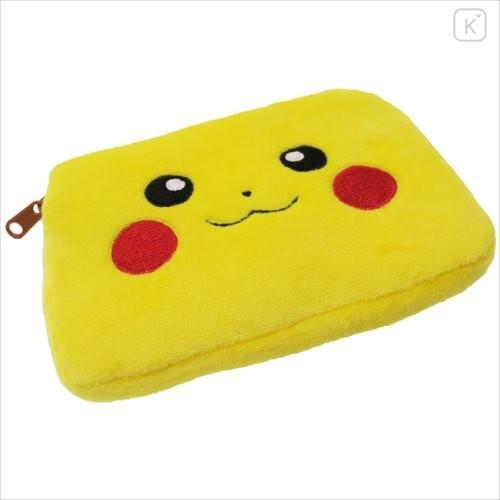 Japan Pokemon Mini Pouch with Tissue Case - Pikachu Face - 3