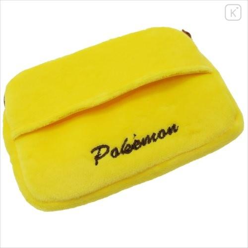 Japan Pokemon Mini Pouch with Tissue Case - Pikachu Face - 4