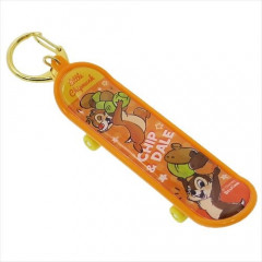 Japan Disney Skateboard Keychain - Chip & Dale
