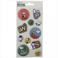 Japan Peanuts 3D Mini Badge Sticker - Snoopy P