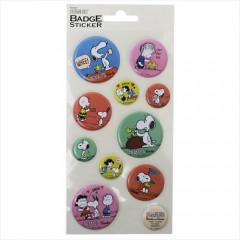 Japan Peanuts 3D Mini Badge Sticker - Snoopy