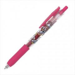 Japan Disney Sarasa Clip 0.5mm Gel Pen - Donald & Daisy Pink