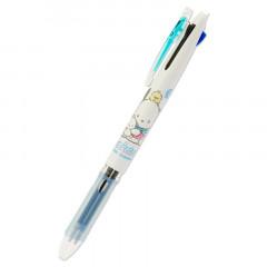 Japan Sanrio Clip-On Slim 3 Color Multi Ball Pen - Pochacco