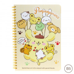 Sanrio B5 Twin Ring Notebook - Pompompurin