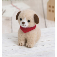 Japan Hamanaka Wool Needle Felting Kit - Cute Dog