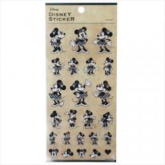 Japan Disney Sticker - Minnie Monochrome