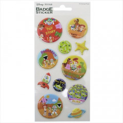 Japan Disney Mini Badge Sticker - Toy Story