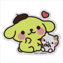 Japan Sanrio Vinyl Mini Sticker - Pompompurin
