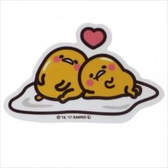 Japan Sanrio Vinyl Sticker - Gudetama / Heart Series