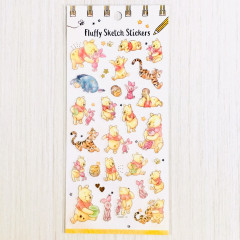 Japan Disney Masking Sticker with Gold Foil - Winnie The Pooh