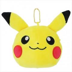 Japan Pokemon Keychain Mini Pouch - Pikachu Face