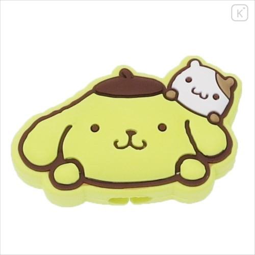 Japan Sanrio Cable Mascot Protector - Pompompurin - 1