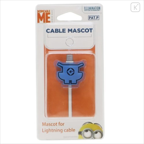 Japan Minions Cable Mascot Protector - Overalls - 3