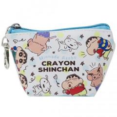 Japan Crayon Shin-chan Triangular Mini Pouch - Blue