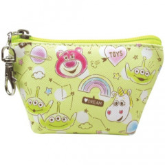 Japan Disney Triangular Mini Pouch - Lotso & Aliens