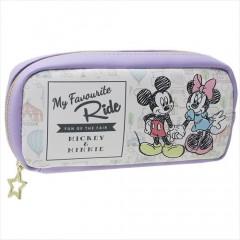 Japan Disney Pen Case Pouch - Mickey & Minnie